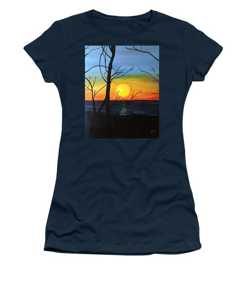 Sunset Through The Branches Women's T-Shirt (Athletic Fit)