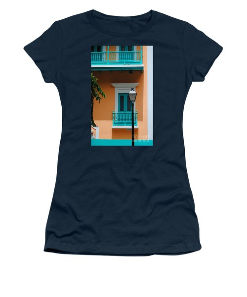 Teal With Pale Orange Women's T-Shirt