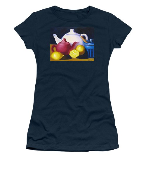 Teapots In Primary Colors Women's T-Shirt (Athletic Fit)