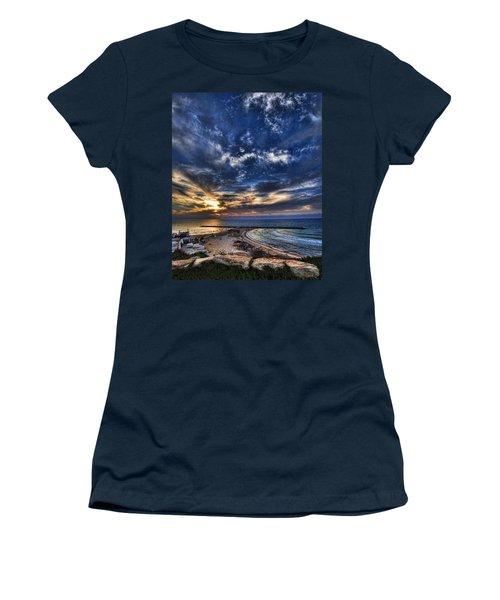 Tel Aviv Sunset At Hilton Beach Women's T-Shirt