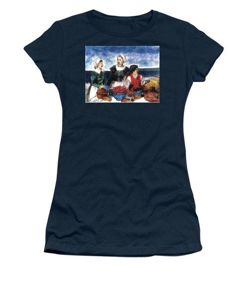 Thanksgiving Supper Women's T-Shirt (Junior Cut) by Francine Heykoop