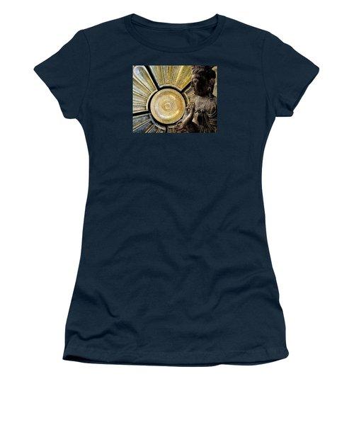 Women's T-Shirt (Junior Cut) featuring the photograph the Buddha  c2014  Paul Ashby by Paul Ashby