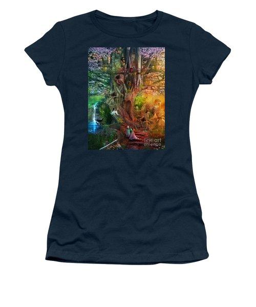 The Dreaming Tree Women's T-Shirt (Junior Cut) by Aimee Stewart