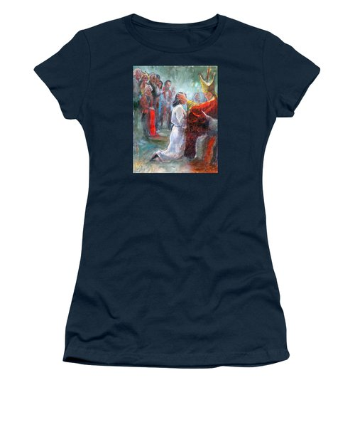 Women's T-Shirt (Junior Cut) featuring the painting The Episcopal Ordination Of Sierra Wilkinson by Gertrude Palmer