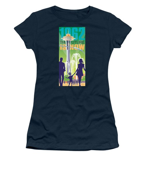 The Future Is Now - Green Women's T-Shirt (Athletic Fit)