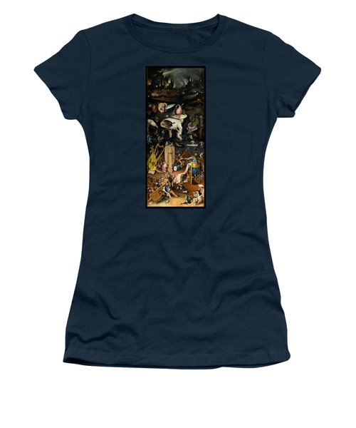The Garden Of Earthly Delights. Right Panel Women's T-Shirt (Junior Cut) by Hieronymus Bosch