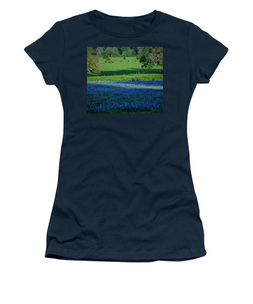 Women's T-Shirt (Junior Cut) featuring the photograph The Pastures Of Central Texas by John Glass