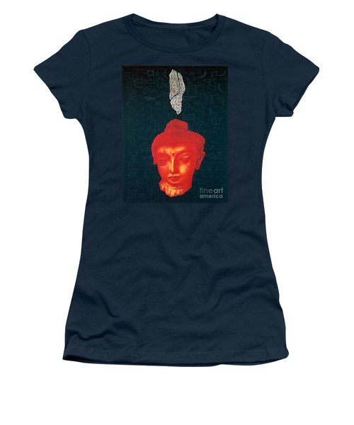 Women's T-Shirt (Junior Cut) featuring the painting The Light Of Face_ Sold by Fei A