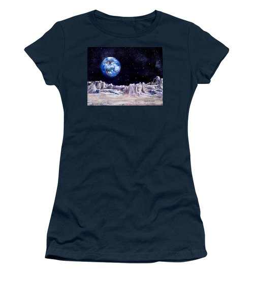 The Moon Rocks Women's T-Shirt (Athletic Fit)