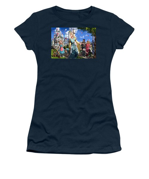Women's T-Shirt (Junior Cut) featuring the painting The Palace Garden  by Reynold Jay