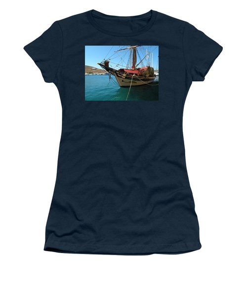 The Pirate Ship  Women's T-Shirt (Athletic Fit)