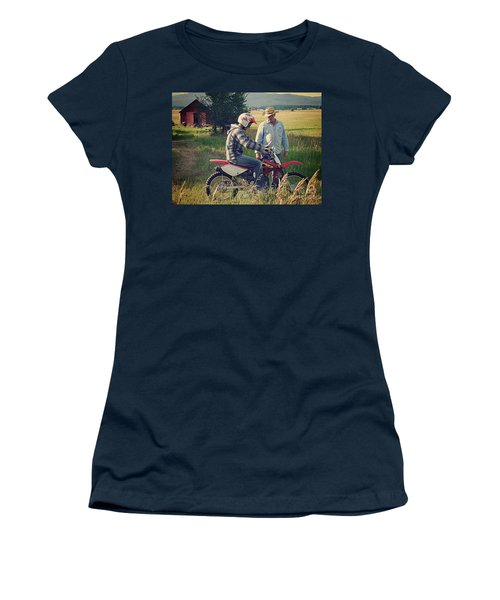 Women's T-Shirt (Junior Cut) featuring the photograph The Teacher by Meghan at FireBonnet Art
