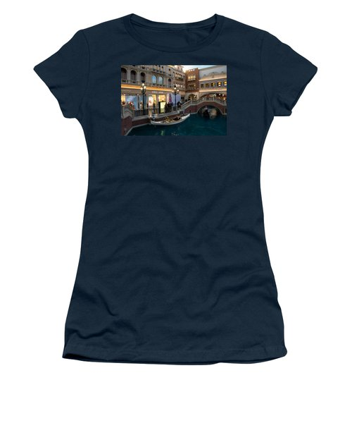 It's Not Venice - The White Wedding Gondola Women's T-Shirt (Athletic Fit)