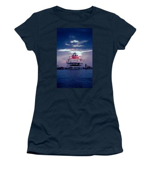 Thomas Pt.  Shoal Lighthouse Women's T-Shirt (Athletic Fit)