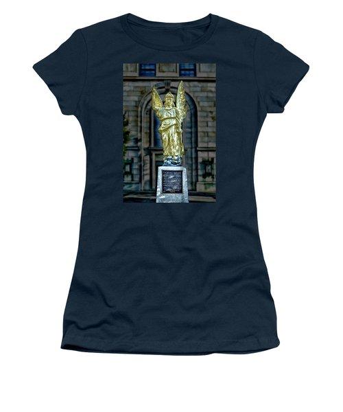 Thomas Wolfe Memorial Angel Women's T-Shirt (Junior Cut) by John Haldane