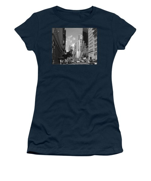 Women's T-Shirt (Junior Cut) featuring the photograph Through The Looking Glass In Black And White by Meghan at FireBonnet Art