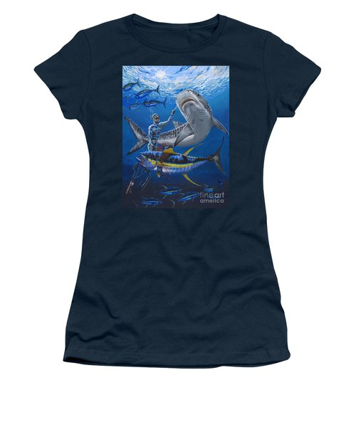 Tiger Encounter Women's T-Shirt (Junior Cut) by Carey Chen