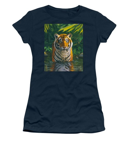 Tiger Pool Women's T-Shirt (Athletic Fit)
