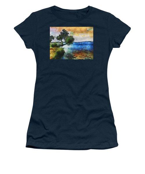 Time Well Spent - Medina Lake Women's T-Shirt (Junior Cut) by Wendy J St Christopher
