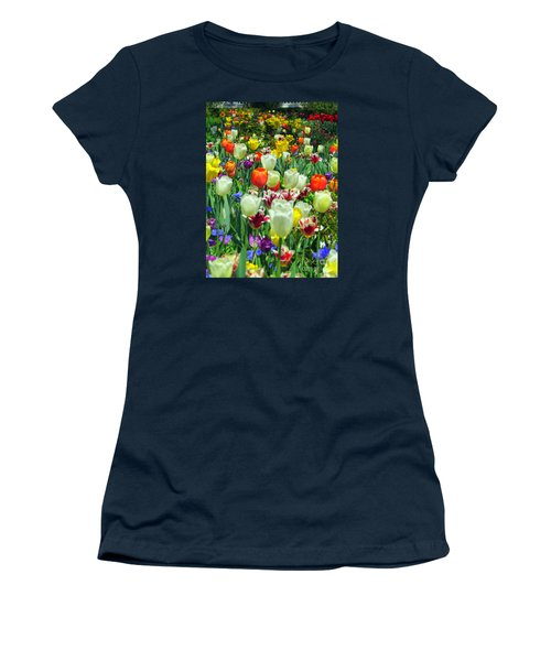 Tiptoe Through The Tulips Women's T-Shirt (Junior Cut) by Elizabeth Dow
