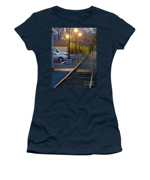 Tracks At Dusk Women's T-Shirt