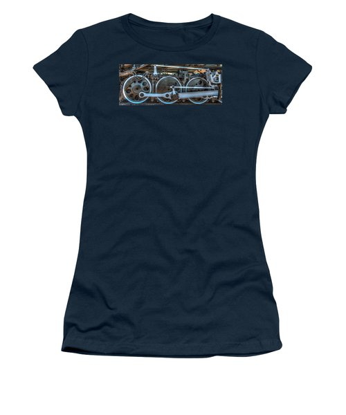 Train Wheels Women's T-Shirt (Junior Cut) by Paul Freidlund