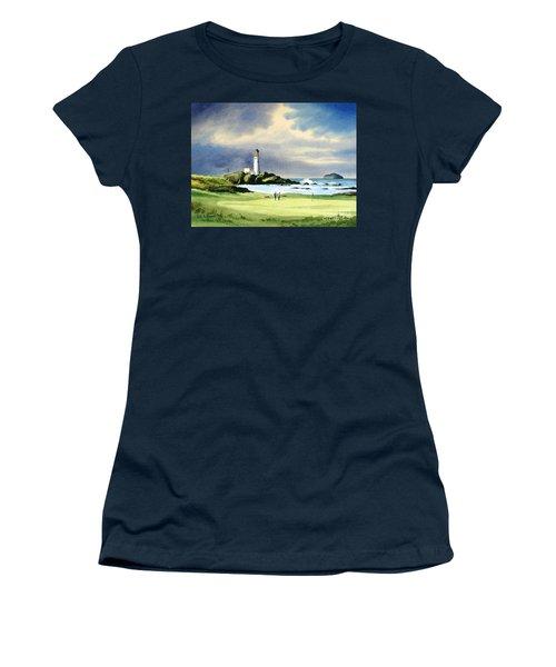 Turnberry Golf Course Scotland 10th Green Women's T-Shirt (Junior Cut) by Bill Holkham