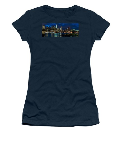 Twilight Nyc Panorama Women's T-Shirt (Junior Cut) by Mitchell R Grosky