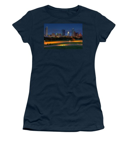 Women's T-Shirt (Junior Cut) featuring the photograph Twilight Skyline by Dave Files