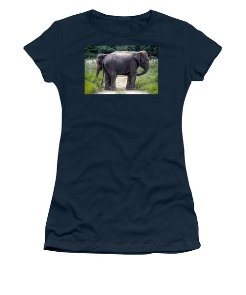 Two Elephants Women's T-Shirt (Athletic Fit)