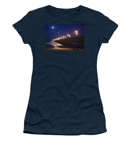 Ufo's Over Oceanside Pier Women's T-Shirt