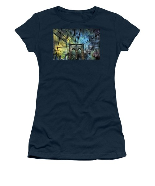 Universe And The Brooklyn Bridge Women's T-Shirt