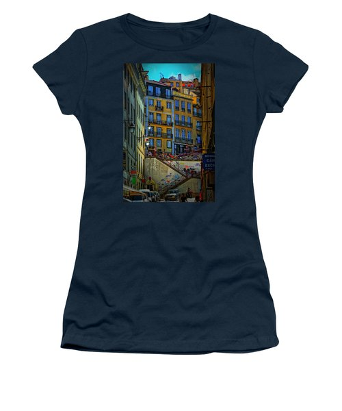 Up The Stairs - Lisbon Women's T-Shirt (Athletic Fit)