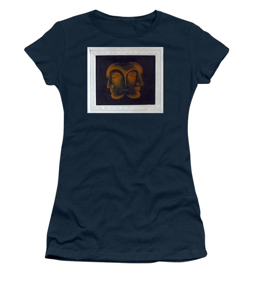Women's T-Shirt (Junior Cut) featuring the painting Us by Fei A