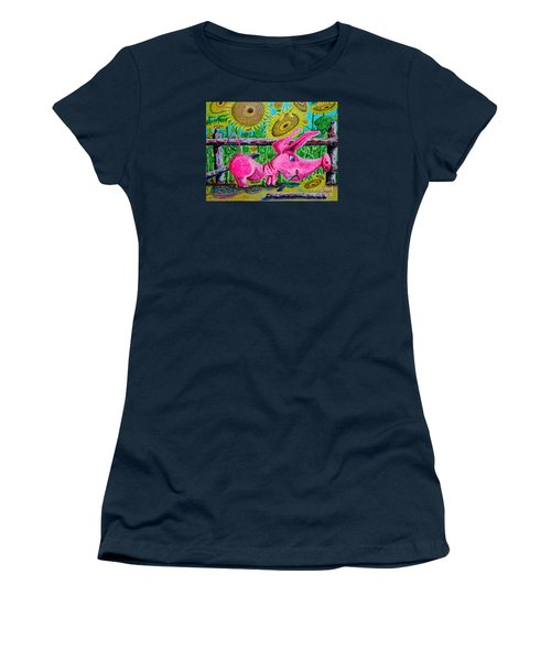 Women's T-Shirt (Junior Cut) featuring the painting Van Gogh And Us by Viktor Lazarev