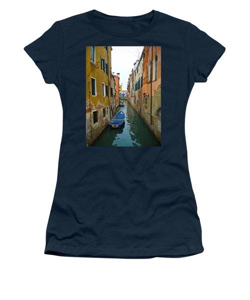 Venice Canal Women's T-Shirt (Junior Cut) by Silvia Bruno