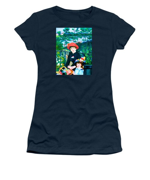 Version Of Renoir's Two Sisters On The Terrace Women's T-Shirt (Junior Cut) by Lorna Maza