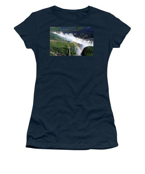 Rainbow Over Victoria Falls  Women's T-Shirt (Junior Cut) by Aidan Moran