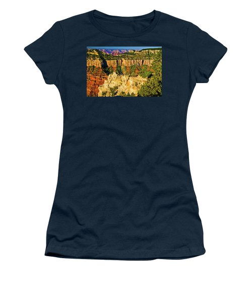 Women's T-Shirt (Junior Cut) featuring the photograph View From Angel Point  by Bob and Nadine Johnston