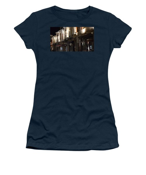 Village Nightscape Women's T-Shirt (Athletic Fit)