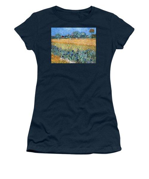 Field With Flowers Near Arles Women's T-Shirt