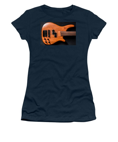 Vintage Bass Guitar Body Women's T-Shirt (Athletic Fit)