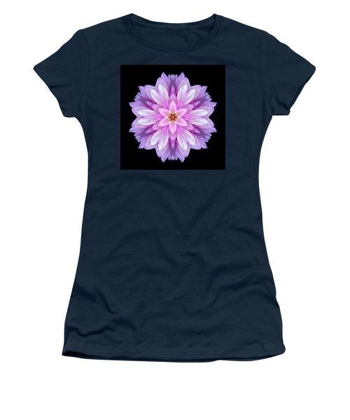 Violet Dahlia I Flower Mandala Women's T-Shirt (Athletic Fit)