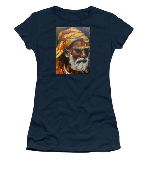 Women's T-Shirt (Junior Cut) featuring the painting Wandering Sage Small by Mukta Gupta