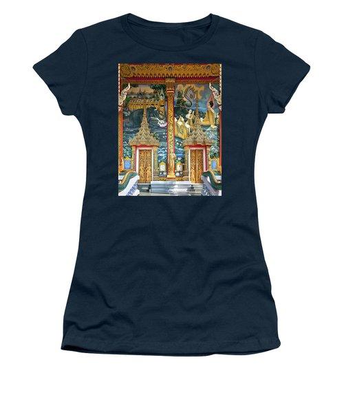 Women's T-Shirt (Junior Cut) featuring the photograph Wat Choeng Thale Ordination Hall Facade Dthp143 by Gerry Gantt