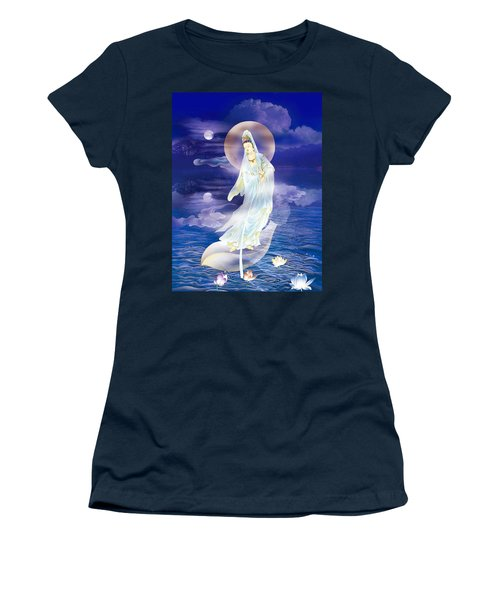Water Moon Avalokitesvara  Women's T-Shirt (Junior Cut) by Lanjee Chee