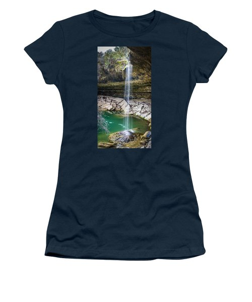 Waterfall At Hamilton Pool Women's T-Shirt