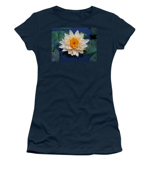 Women's T-Shirt (Junior Cut) featuring the photograph Waterlily After A Shower by Raymond Salani III