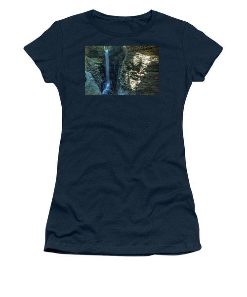 Watkins Glen Women's T-Shirt (Junior Cut) by Dave Files