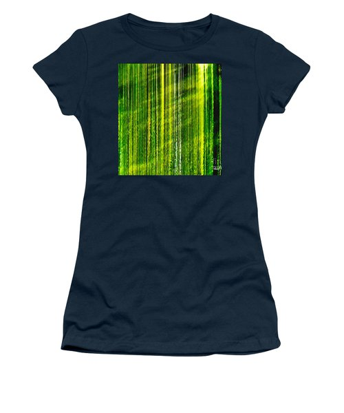 Weeping Willow Tree Ribbons Women's T-Shirt (Athletic Fit)